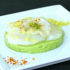 Mousse d'avocat carpaccio de St jacques au gingembre