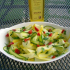 Salade de courgettes multicolores
