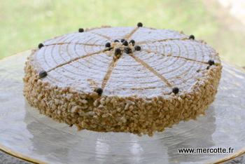 Gateau avec praline en grains