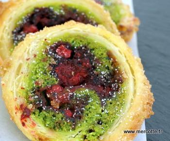 Recette gateau fruits rouges pistache