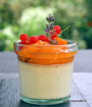 La v ritable panna cotta de marie claire sans g latine abricots r tis la vanille l abricot - Panna cotta sans gelatine ...