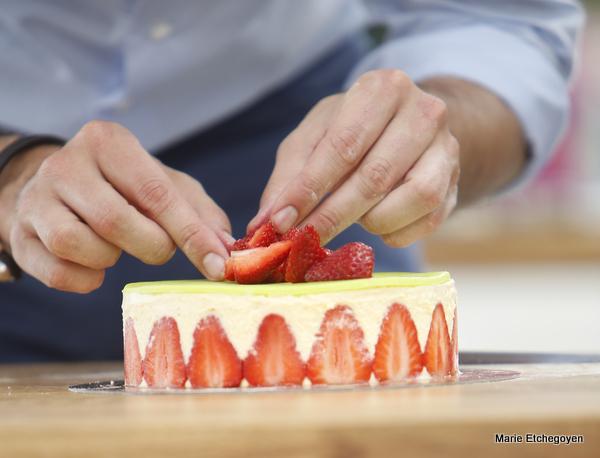 5 Fraisiers  blanche ananas SAVEUR INCROYABLE Un délice.