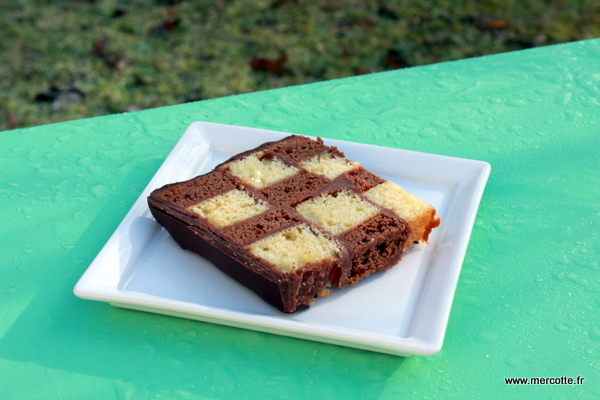 Cake damier citron chocolat la cuisine de mercotte macarons verrines et chocolat - La cuisine de mercotte ...