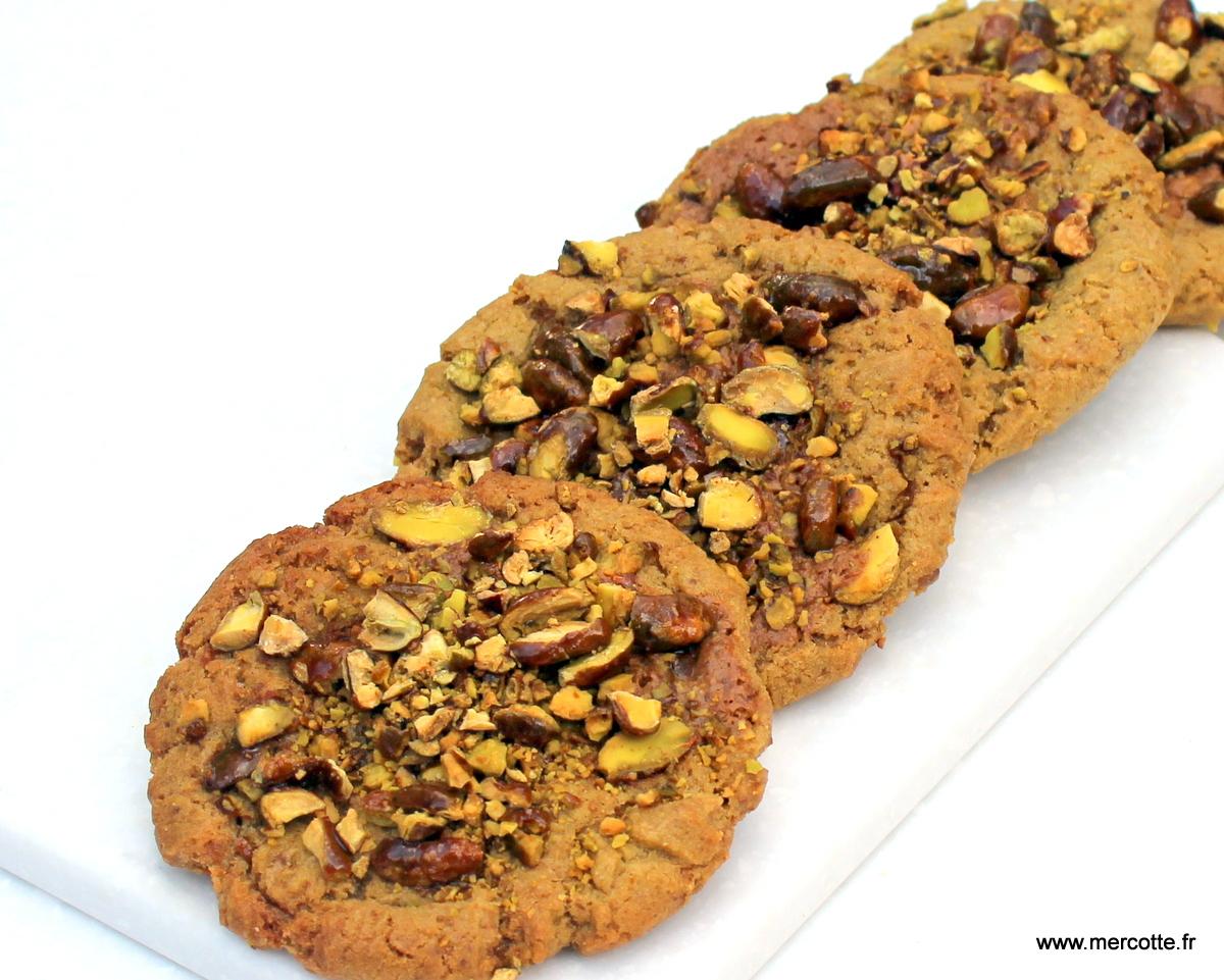 Cookies la pistache et au pralin de pistache la cuisine de mercotte macarons verrines - La cuisine de mercotte ...